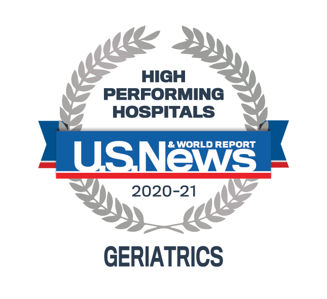 AdventHealth has been designated a U.S. News & World Report Best Hospital in geriatric care for 2020-2021.