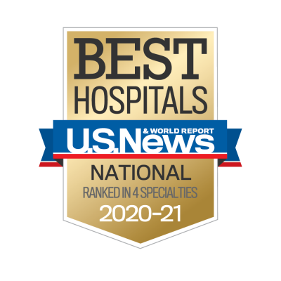 AdventHealth has been designated a U.S. News & World Report Best Hospital in four specialties for 2020-2021.